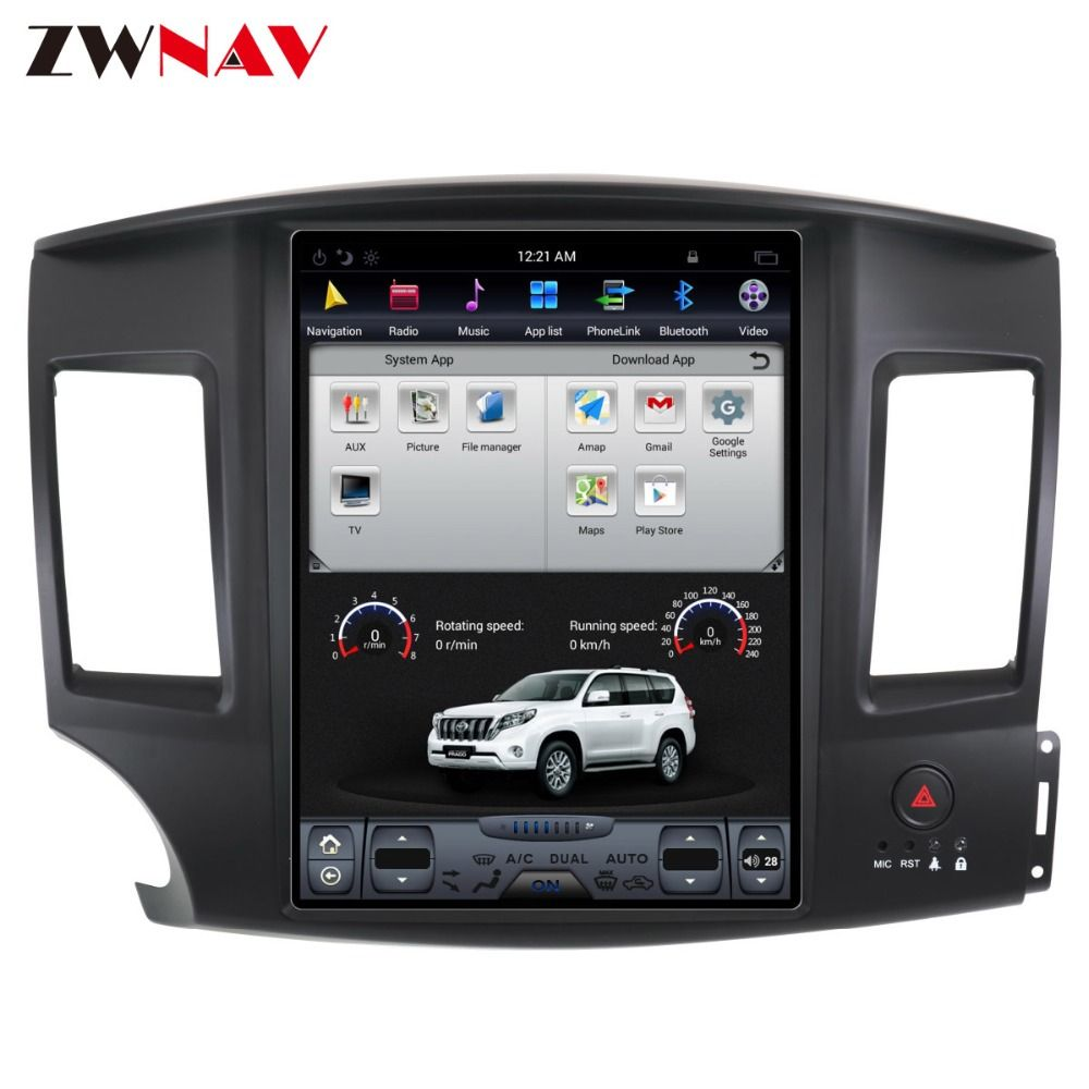 ZWNVA Tesla IPS Screen Android 7.1 Car GPS Navigation Radio For Mitsubishi Lancer 2007 - 2017 No CD Player GPS System Audio