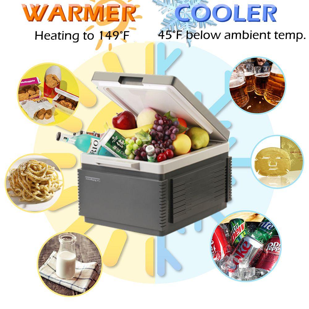 SOAC Refrigerator Car Mute Design Dual-core Truck Home Freezer Travel Car Mini Auto Fridge Minimum cooling to -8 degrees