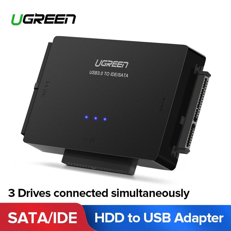Ugreen SATA to USB IDE Adapter USB 3.0 2.0 Sata 3 Cable for 2.5 3.5 Hard Disk Drive HDD SSD USB Converter IDE SATA Adapter