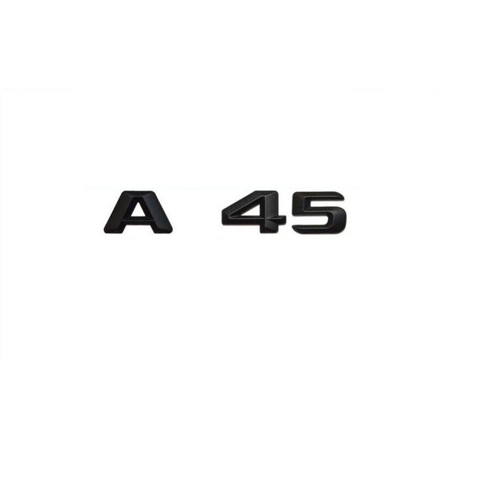 Matt Black Car Trunk Rear Letters Word Badge Emblem Letter Decal Sticker for Mercedes Benz W176 AMG A Class A45 AMG