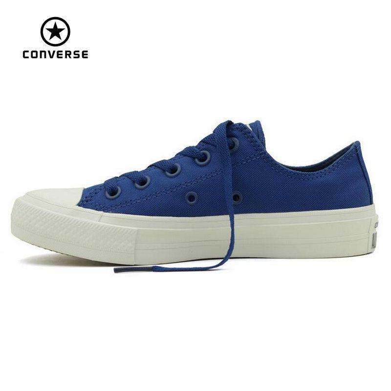 NEUER Converse Chuck Taylor All Star II low männer frauen turnschuhe leinenschuhe Klassische reine farbe Skateboard Schuhe 150149C