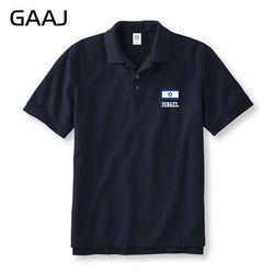 Israel Flag Polo Shirt Pria & Wanita Unisex Kaus Mens MaleMan Bisnis & Kasual Merek Pakaian Lengan Pendek Kemeja Polos