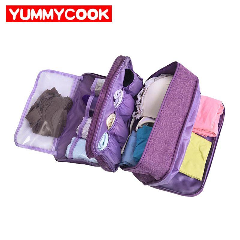 Portable soutien-gorge sous-vêtements sac de rangement étanche voyage chaussettes cosmétiques tiroir organisateur garde-robe placard vêtements pochette accessoires