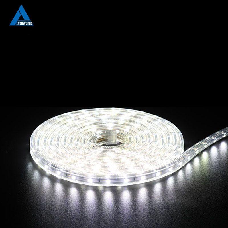 Étanche SMD5050 LED bande lumière AC 220 V SMD 5050 flexible LED bande 60 LED s/Mètre 220 v jardin extérieur éclairage avec L'UE plug