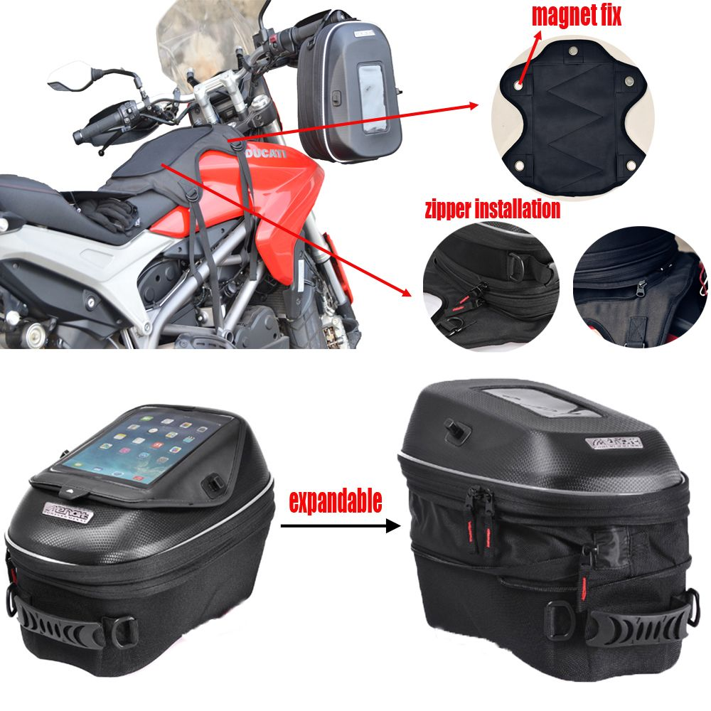 MENAT new style Motorcycle Tank bags can use Bundled way or magnet fixed