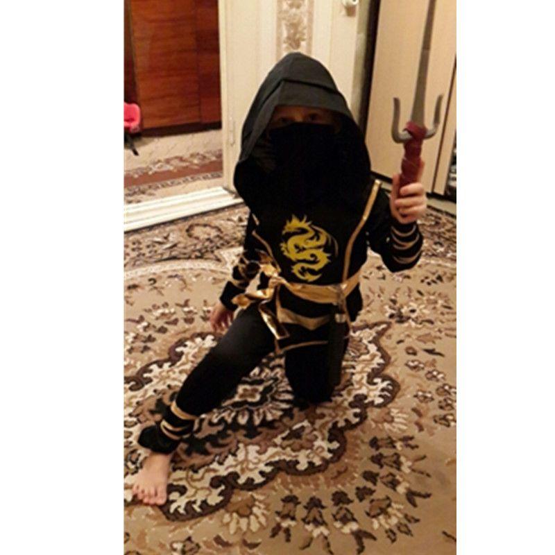 Boys Cosplay Ninja Costumes Grim Reaper Halloween Children Warrior Costumes Stage Suit Kids Swordsma