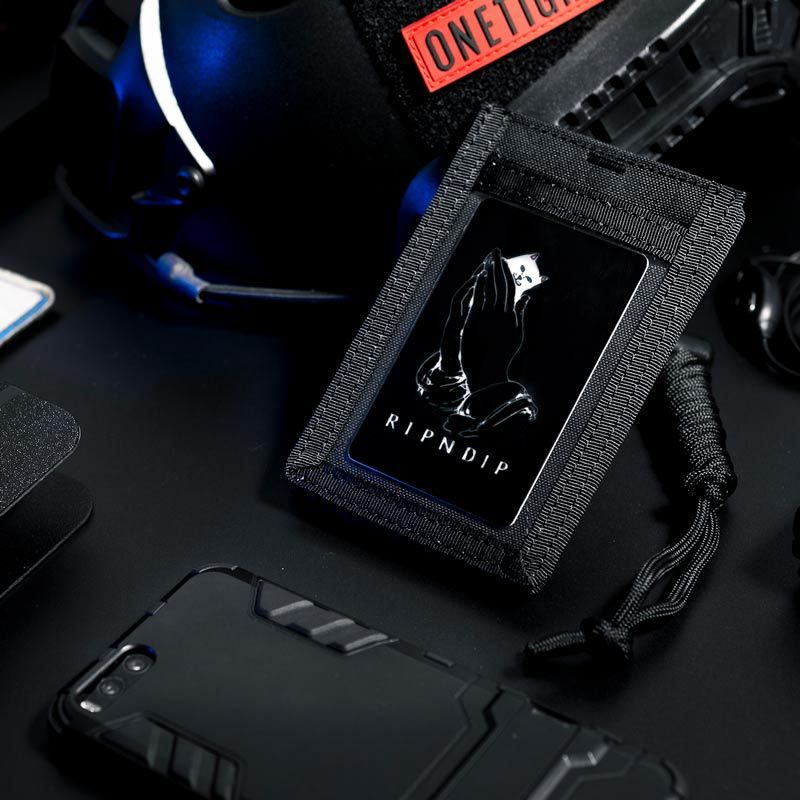 OneTigris Army Fan Tactical ID Card Case Patch Neck Lanyard and Credit Card <font><b>Organizer</b></font> ID Card Holder