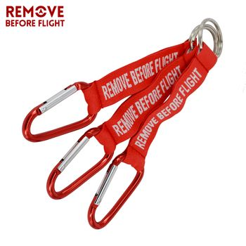 Hot Sale Remove Before Flight 3PCS Red Keychain Chaveiro Porte Cle Jewel Aviation Tag Key Ring For Car Accessories Creative Tide