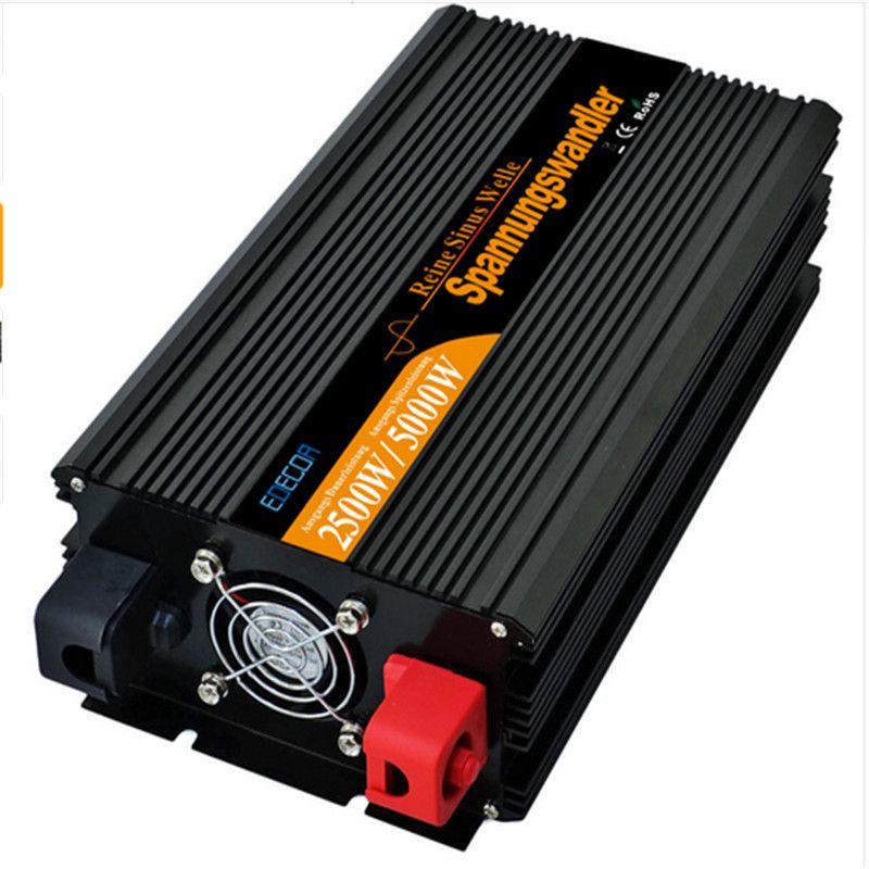 EDECOA off grid konverter DC 24 v zu AC 220 v 2500 watt 5000 watt reine sinus welle power inverter freies verschiffen