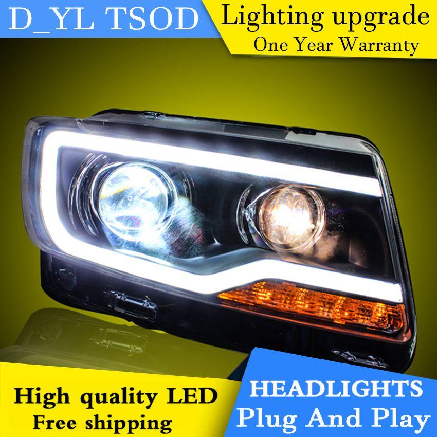 Auto Styling Scheinwerfer für JEEP Compass 11-15 LED Scheinwerfer für Kompass Kopf Lampe LED Tagfahrlicht LED DRL Bi-Xenon HID