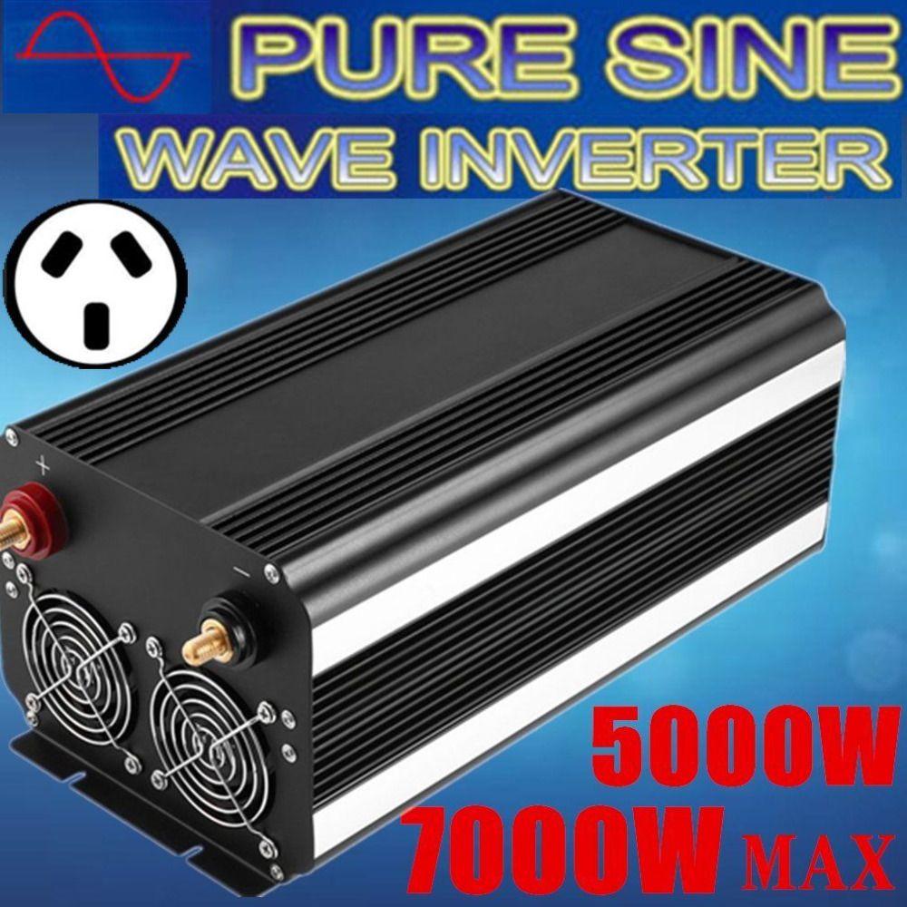 AU Plug 5000W Power Inverter Max 7000W Pure Sine Wave 12V -240V CAR CARAVAN NP