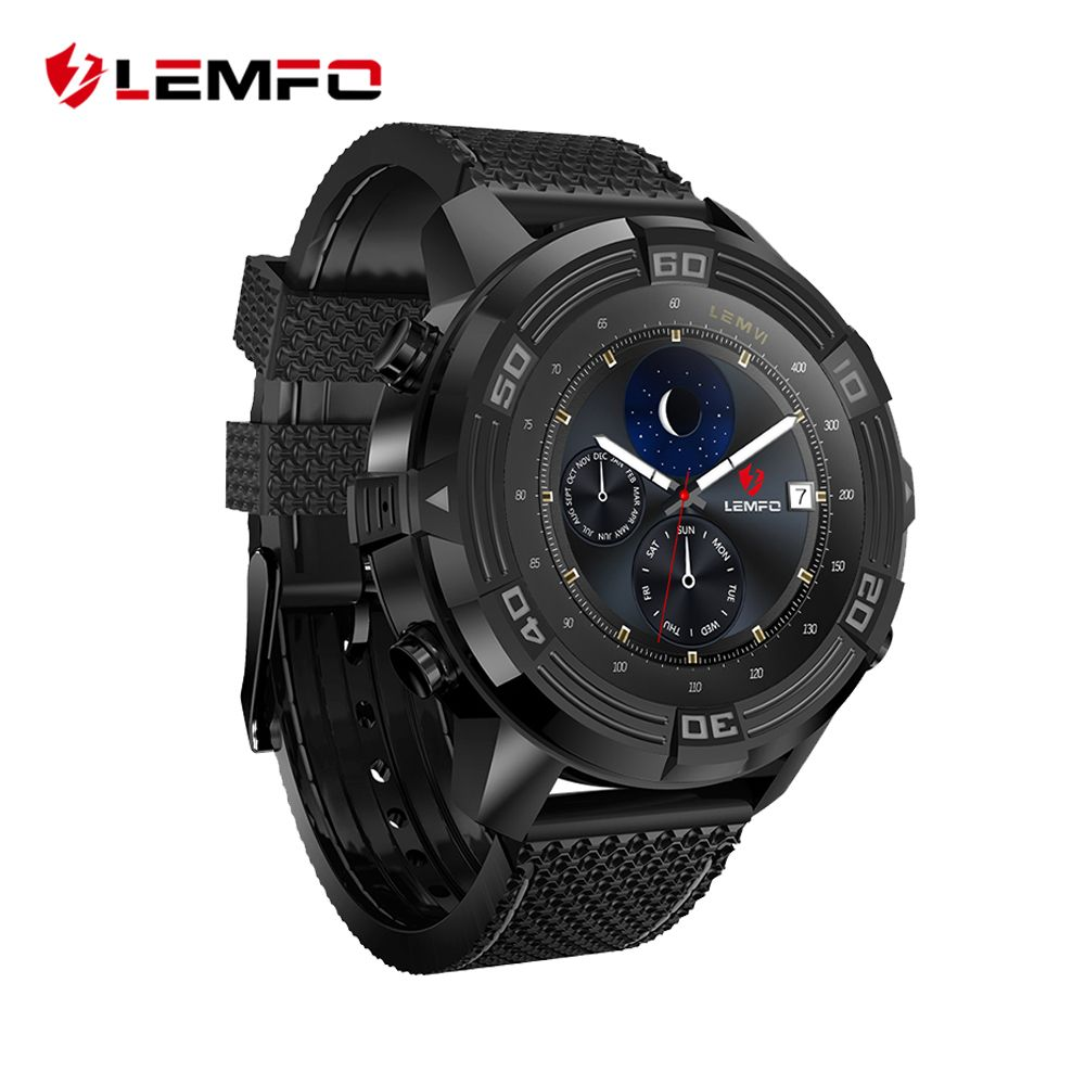 LEMFO LEM6 Smart Watch Men Android 5.1 Watch Phone IP67 Waterproof GPS Tracker 1GB + 16GB Smartwatch with Replaceable Strap