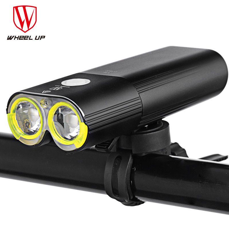 WHEEL UP Bike Light Professional 1600 Lumens Bicycle Light Power Bank Waterproof USB Rechargeable Bike Flashlight Cycling light