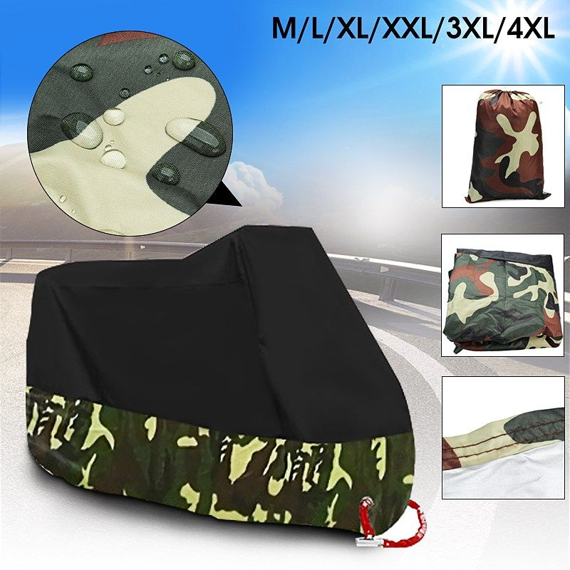 Universal 190T Motorbike ATV Cover UV Protector Waterproof Rain Dustproof Anti-theft Motorcycle Scooter Covers With Lock Holes