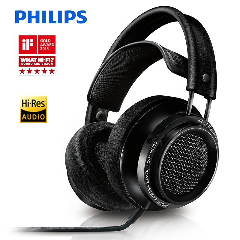 Philips Fidelio X2HR headphones voted best product in 2015 with 50 mm high-power drive 3meters Line Length for xiaomi smartphone