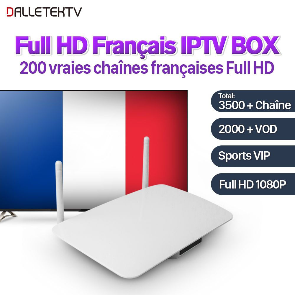 IPTV French Box Android 6.0 with 1 Year Subtv account IPTV French Arabic Sports Live IPTV Subscription France VOD Movies Series