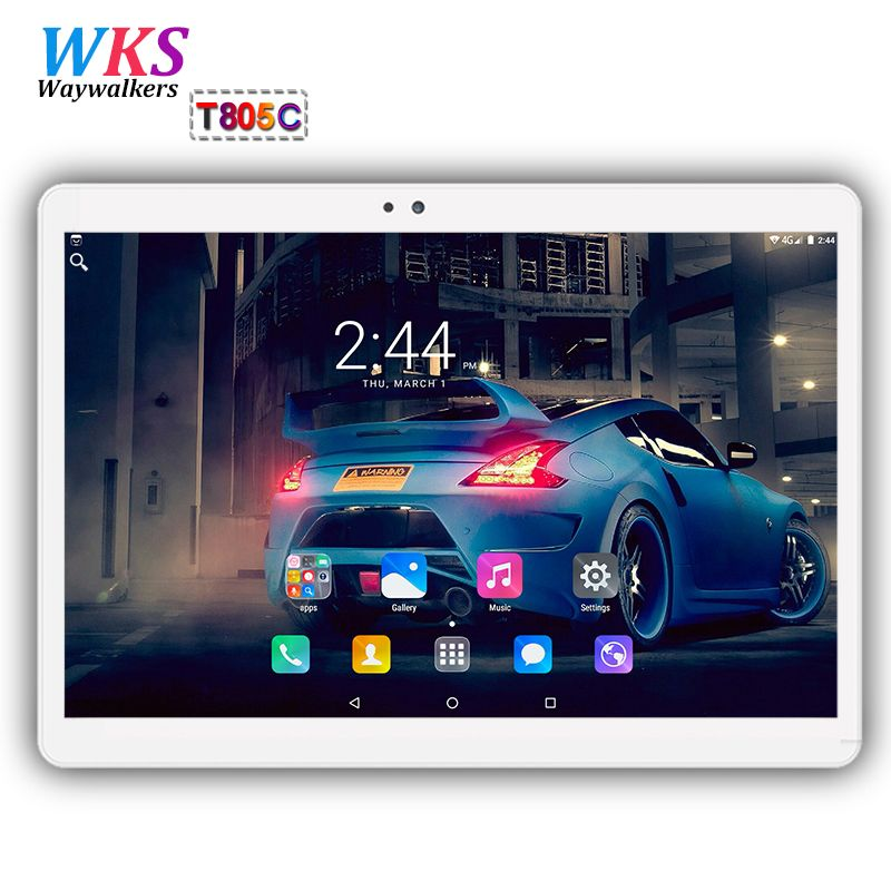 Original 10.1 inch 3G/4G LTE tablet pc Android 7.0 <font><b>Octa</b></font> Core 4GB+64GB 1920*1200 IPS Dual SIM WIFI FM Bluetooth Smart tablets pcs