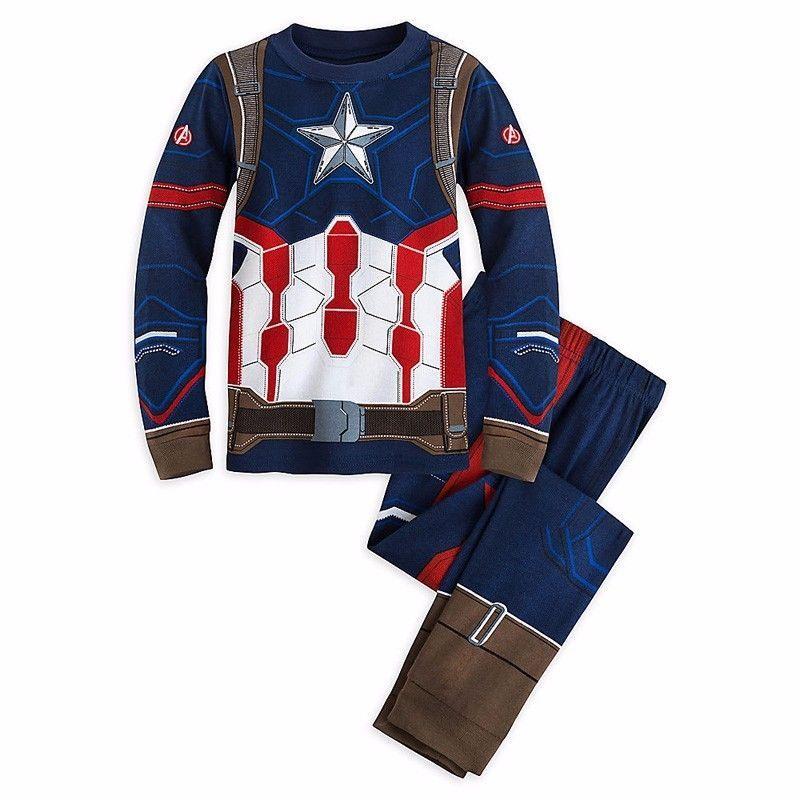 Детские хлопковые пижамы с длинными рукавами с изображением Человека-Паука; 1 комплект Пижама с изображением Супермена для малышей, девочек...