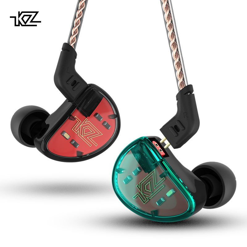 KZ AS10 Earphones 5BA Balanced Armature Driver HIFI Bass Stereo Headset In Ear Monitor Sport Headphone Noise Cancelling Earbuds
