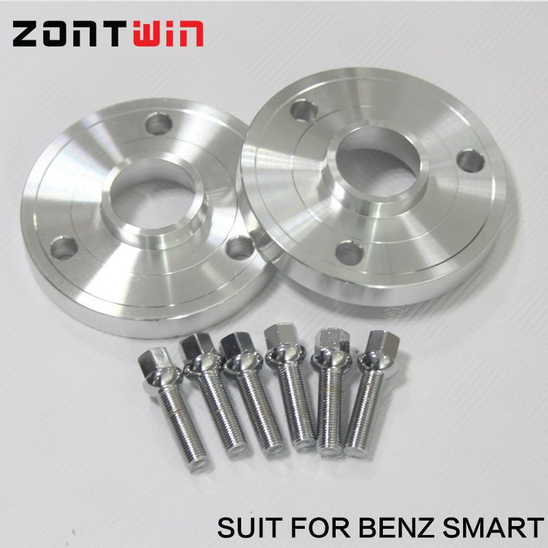 2pcs 15mm 20mm Alloy aluminum wheel spacer PCD 3-112 hub 57.1 suit for smart CABRIO(450) CITY-COUPE(450) FORTWO CABRIO (450)