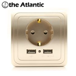 Best Dual USB Порты и разъёмы 2A стены Зарядное устройство адаптер ЕС розетка Мощность Outlet panelgrounded Электрический настенный Зарядное устройство ад...