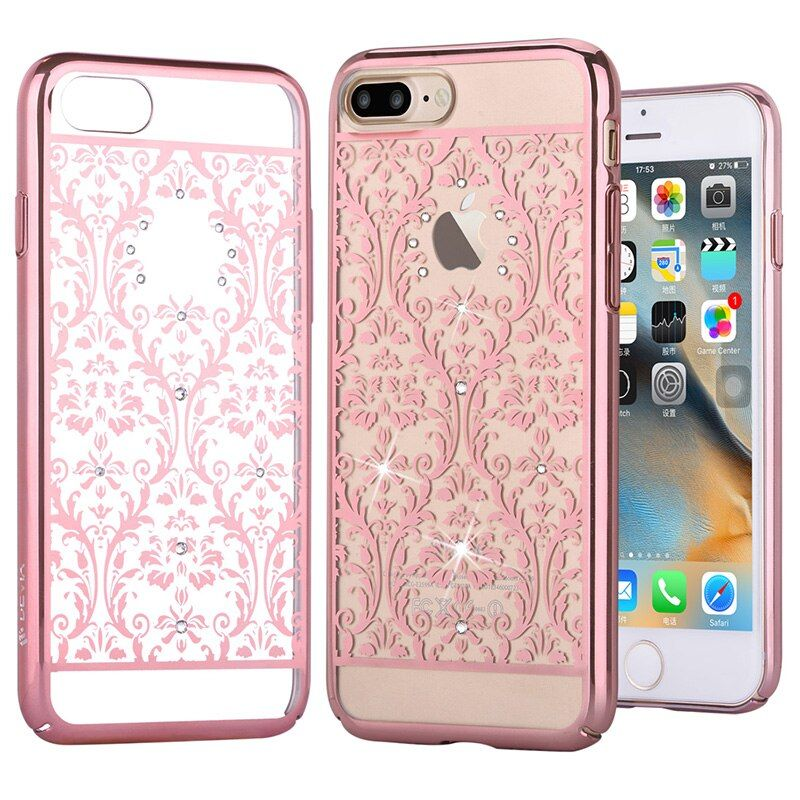 DEVIA for iPhone 8 7 Plus Case Cover Crystals from Swarovski Baroque Diamond Plating Hard PC Case for iPhone 7 Plus Cover Capa