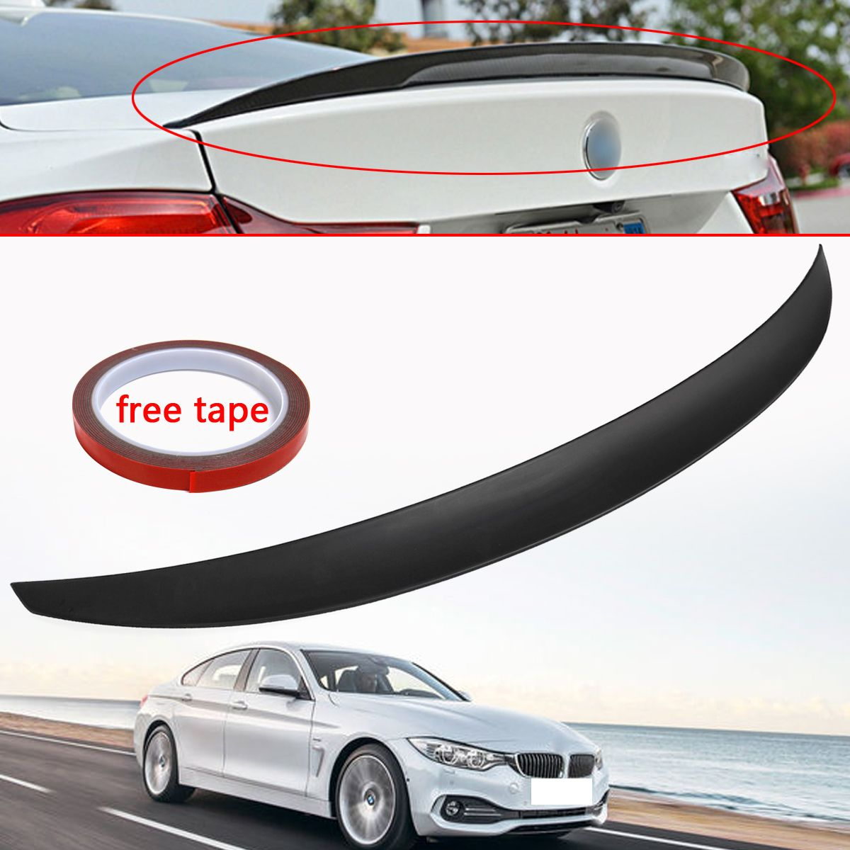 New Rear Trunk Spoiler Wing Performance Style for BMW 4-Series F36 4 Door Gran for Coupe 2014 2015 2016 - UP 420i 420d 428i