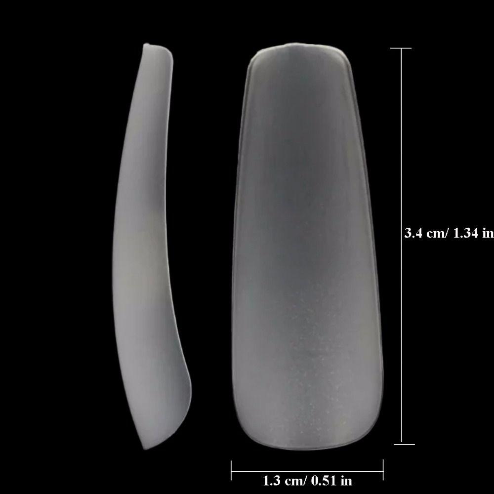 Makartt Clear Full Cover Acrylic False Nail Tips 360pcs/box 12 Sizes Ultra Thin ABS material Coffin Shape False Tips A0488