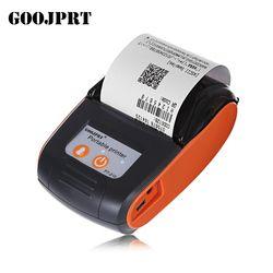 GOOJPRT PT210 58mm Bluetooth Imprimante Thermique Portable Sans Fil Réception Machine pour Windows Android iOS