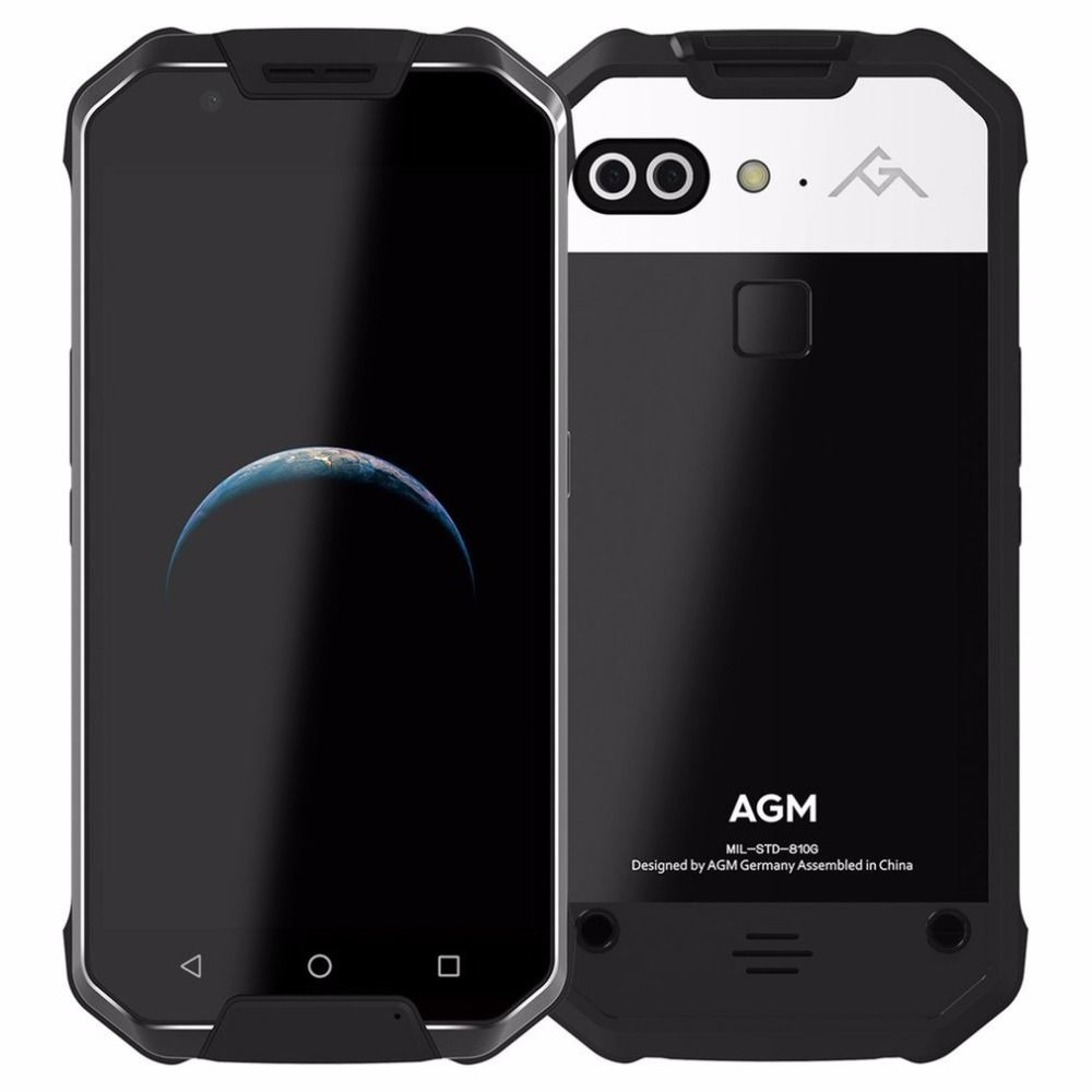 2017 OFFICIAL NEW RELEASE AGM X2 4G Smartphone Android7.0 IP68 Waterproof 5.5