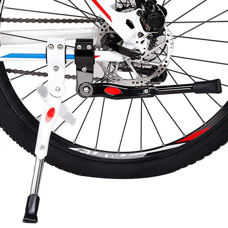 Bicycle Parking Rack Heavy Duty Adjustable Mountain Bike Bicycle Cycle Prop Side Rear Kick Stand Bicycle Accessories
