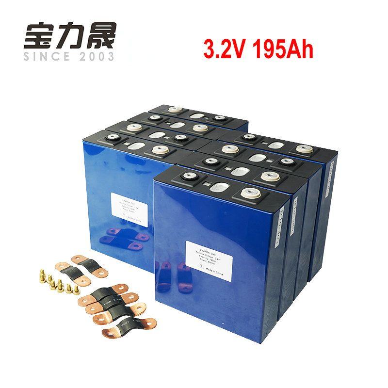 16PCS 3,2 V 190Ah lifepo4 batterie 4000 ZYKLUS lithium-solar 16S 48v200ah zellen nicht 100Ah für pack Marine RV Golf EU UNS STEUER FREIES