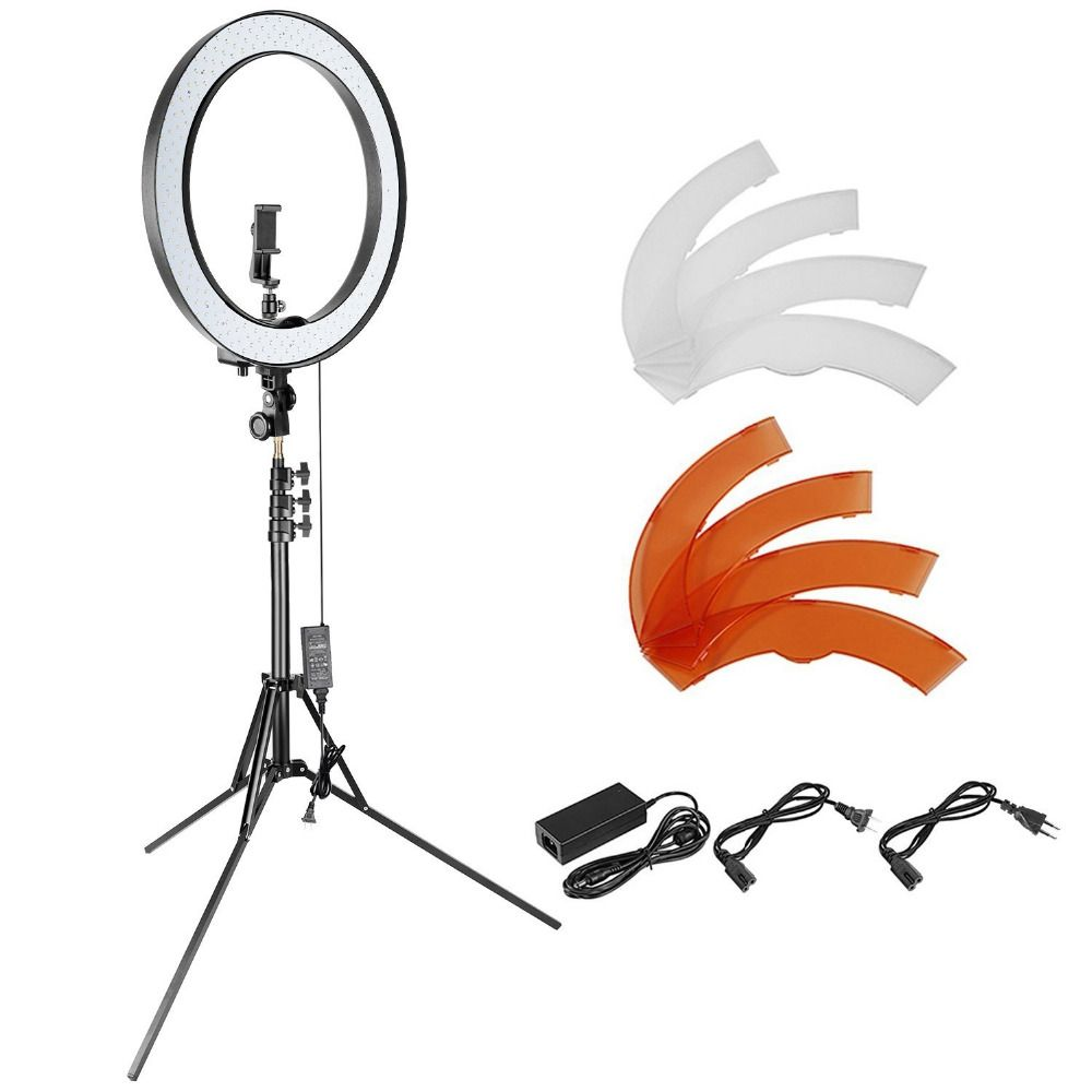 Neewer 18-inch Outer Dimmable SMD LED Ring Light Lighting Kit for Smartphone Camera Portrait <font><b>Make</b></font> up YouTube Video Shooting
