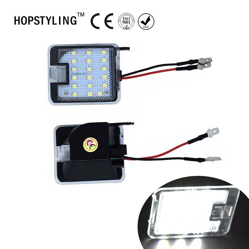 Hopstyling2x for Ford LED Side under Mirror Puddle Light led under mirror light For Focus KUGA Auto led bulbs lamp lighting part