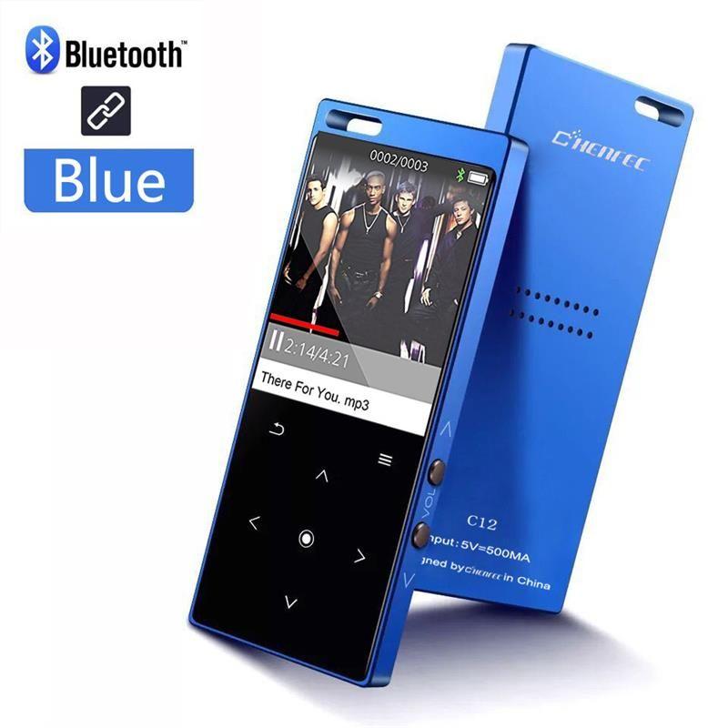 MP4 Player Bluetooth Touch Schlüssel Eingebaute Lautsprecher Lossless HiFi Musik-Player mit FM Video-Player, unterstützt Sd-karte Bis zu 128 gb