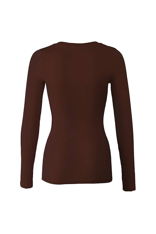 Frauen Grundlegende Rundhals Warme Weiche Stretchy Lange Ärmeln T Hemd 10 stück