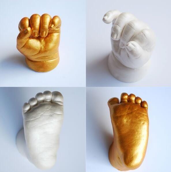 3D main et pied imprimer moule pour bébé poudre plâtre Kit de moulage empreinte de main souvenir cadeau bébé croissance Memorial