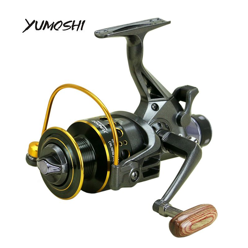 YUMOSHI 2017 new 10+1 BB Front and Rear Drag <font><b>reels</b></font> 3000 4000 5000 6000 fishing <font><b>reels</b></font>