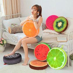 40 см/33 см 3D подушка в виде фрукта фруктов Хлопок Офис Подушка на спинку стула пледы Подушка, домашний декор подушка для сиденья креативный по...