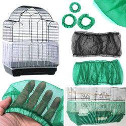 Malla de Nylon Receptor semilla guardia pájaro loro cubierta suave fácil limpieza Nylon aireado tela de malla de aves cubierta Catcher pájaro suministros