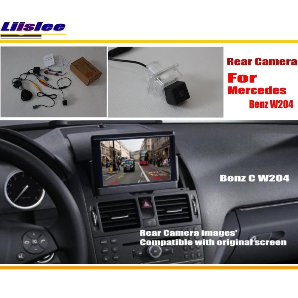 Liislee Car Rear View Camera Sets For Mercedes Benz C Class W204 2007~2014 / Back Up Reverse Camera / RCA & Original Screen