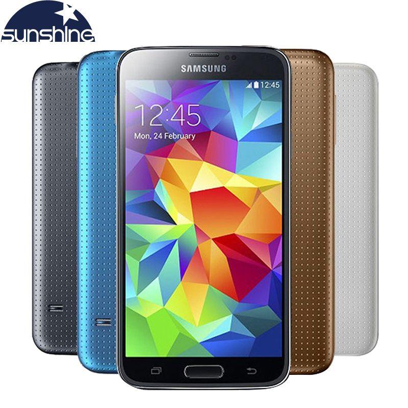 Débloqué Original Samsung Galaxy S5 i9600 Mobile Téléphone WIFI Quad Core 5.1