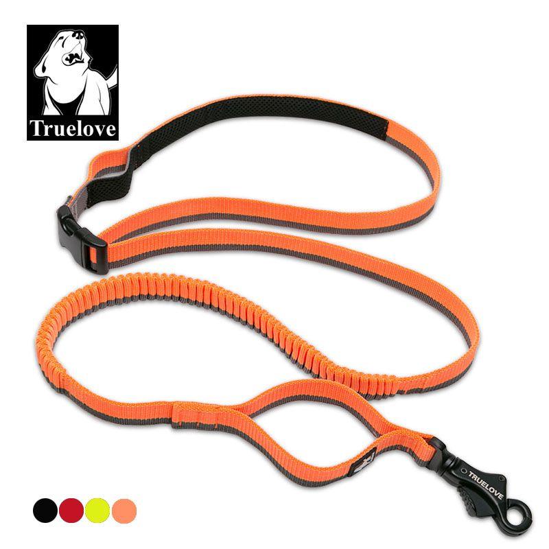 Truelove chien en cours d'exécution laisse élastique à la main taille portée réglable en Nylon élastique rétractable chien conduit pour courir Jogging marche