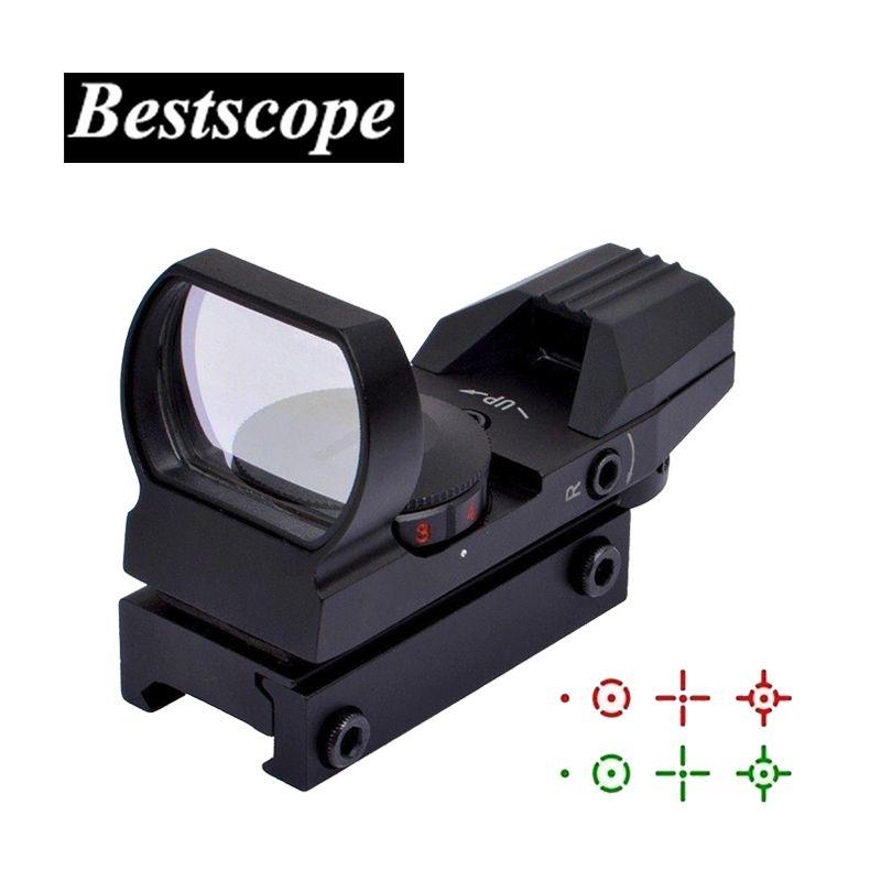 Chaude 20mm Ferroviaire Lunette Chasse Optique Holographique viseur point rouge Reflex 4 Réticule Tactique Portée Collimateur Sight