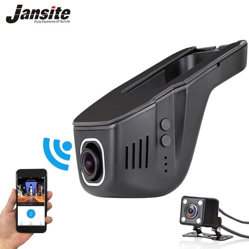 2018 Date Voiture Dvr Mini Wifi Voiture Caméra Full HD 1080 P Dash Cam Registrator Vidéo Enregistreur Caméscope Double Lentille Dvr App Contrôle