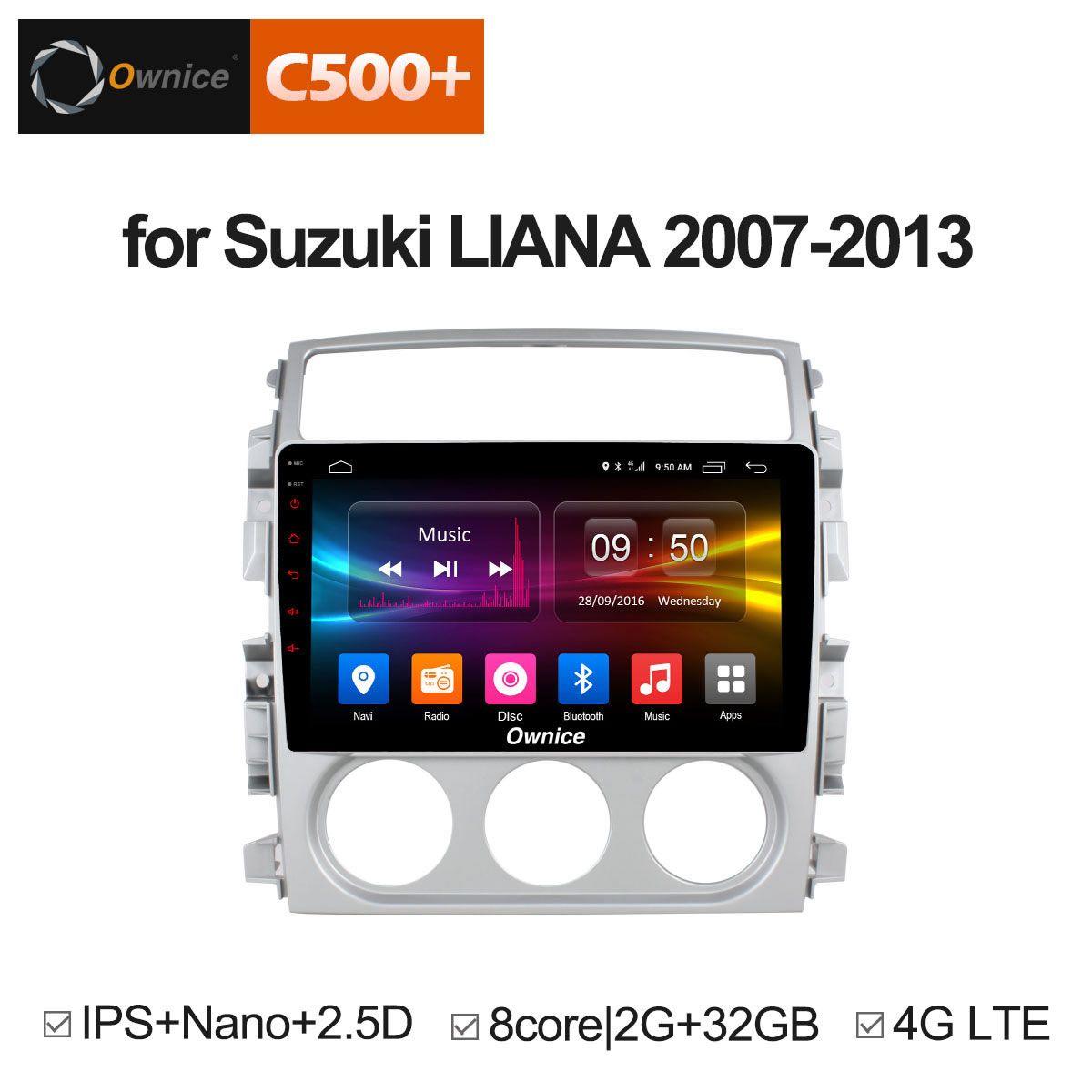 Ownice C500+ G10 Octa Core 2G+32G Android 8.1 Car dvd Stereo player for Suzuki Liana 2007 - 2013 radio Head Unit DAB+ 4G SIM