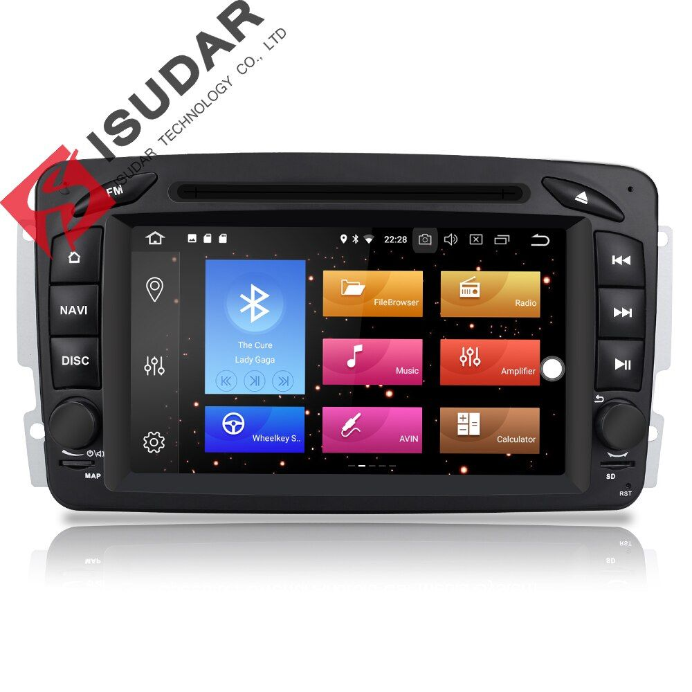 Isudar Auto Multimedia player Android 8.0 GPS 2 Din Auto Radio Player DSP Für Mercedes/Benz/W209/W203 /Viano/W639/Vito FM Radio