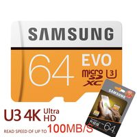 SAMSUNG Новый U3 Micro SD 256 ГБ/128 ГБ/64 ГБ SDXC U1 32 ГБ/16 ГБ SDHC Class10 TF карты памяти CF C10 Microsd флэш-карт Доставка