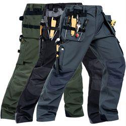 2019 Baru Pria Bekerja Kantung Kosong Celana dengan Removable EVA Bantalan Lutut Kualitas Pekerja Mekanik Kargo Bekerja celana