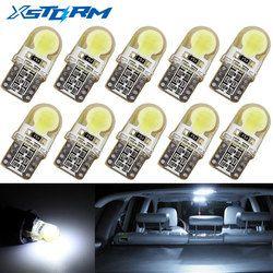 10 Pcs Auto T10 Led Blanc Froid 194 W5W LED 168 COB De Silice voiture Super Lumineux Tournez Side Plaque D'immatriculation de La Lampe Ampoule DC 12 V